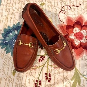 Gucci Horsebit Leather Driver Loafers